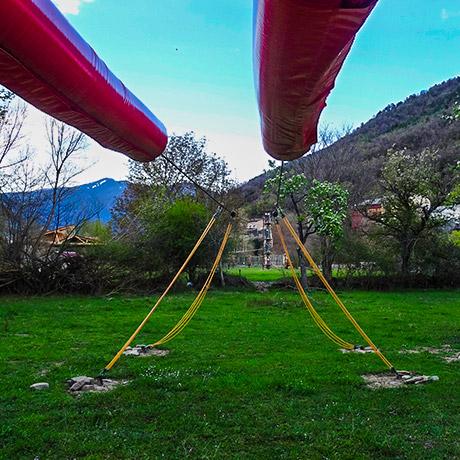 tirolina de 110 m